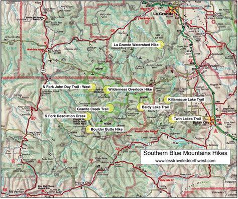 map of oregon mountain peaks map oregon mountains swimnova