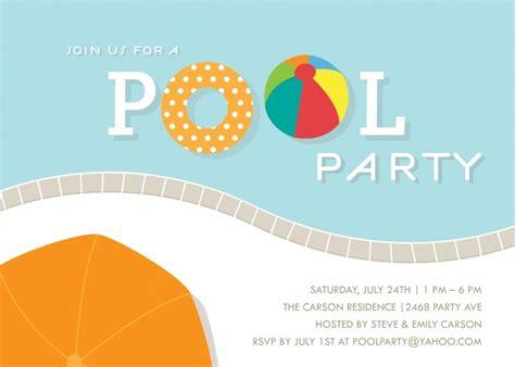 free pool invitation template printable free pool invitation template use some