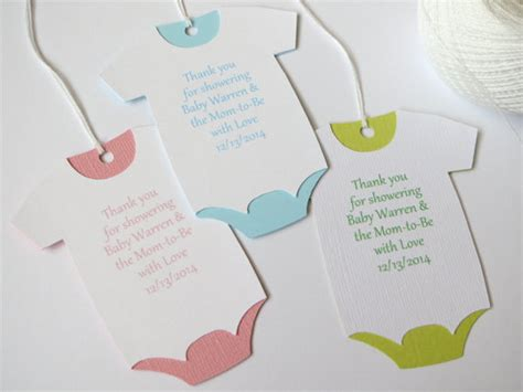 Thank You Baby Shower Favor Tags by Large Baby Shower Thank You Tags Custom Baby Shower Favor