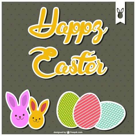 happy easter card template happy easter card template vector free
