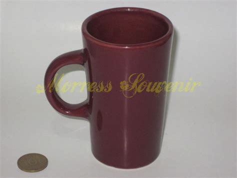 Mug Biru Tua pusat grosir souvenir mug keramik malang by morress keramik mug kerucut mug 12