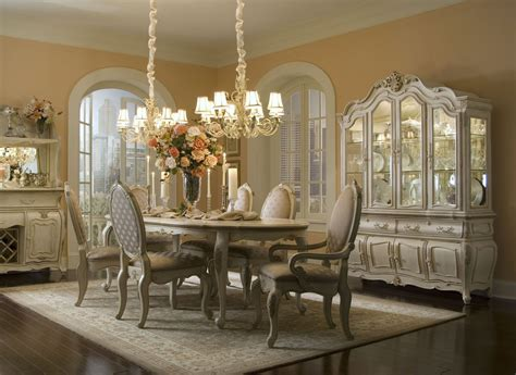 oval dining room set lavelle blanc oval dining room set from aico 54000