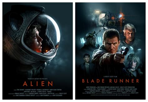 beautiful fan art for alien and blade runner by brian