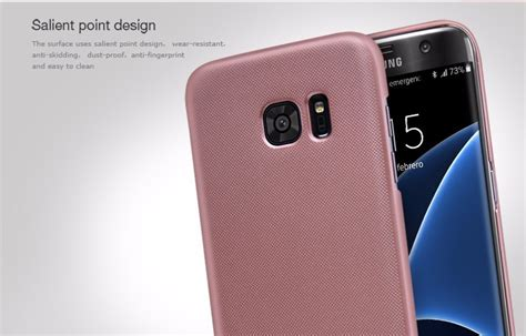 Nillkin Frosted Shield For Samsung Galaxy S7 Edge Rosegold nillkin frosted shield for samsung galaxy s7