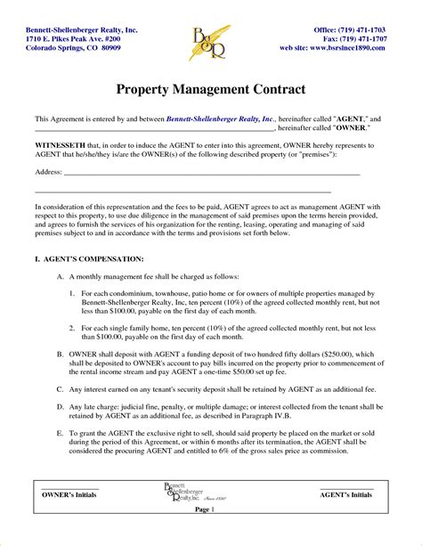 property management agreements 8 property management contract template timeline template