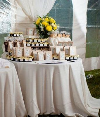 Wedding Favors Table by Biscotti Wedding Favors
