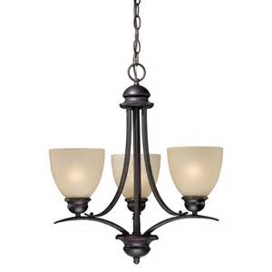 3 Light Chandelier Bronze Avalon 3 Light Chandelier Burnished Bronze