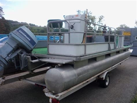 pontoon boat trailers for sale in new york smoke craft pontoon boat with homemade trailer for sale in