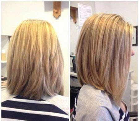 hairstyles with layered in back and longer on sides long layered bob back view intended for comfortable