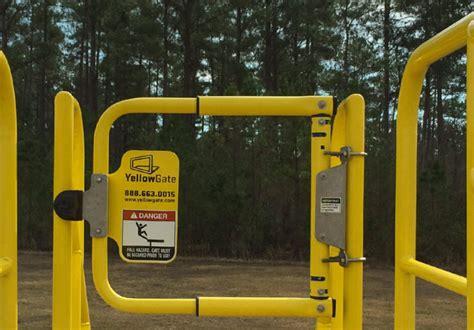 safety swing gates swing gates osha compliant industrial safety gates