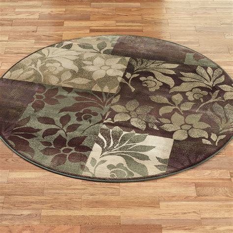 round accent rug leaf collage round area rugs