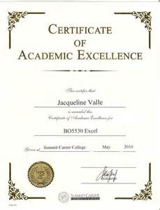 Academic Certificate Templates Gallery For Gt Academic Excellence Certificate Template