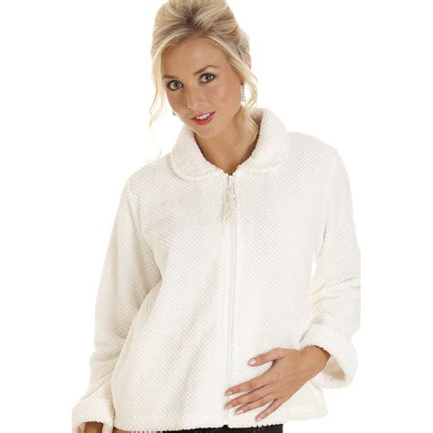 ladies bed jackets womens zip front soft fleece bed jacket