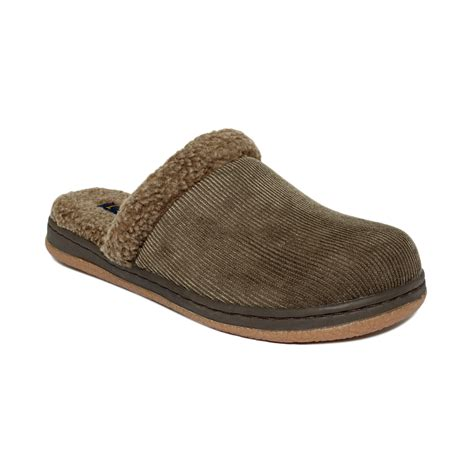 lb s slippers l b kit corduroy sherpa slippers in gray for