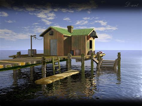 boat house wallpaper boat house 1280 x 960pix wallpaper nature 3d digital art