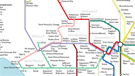 la subway map the most optimistic possible la metro rail map of 2040 curbed la