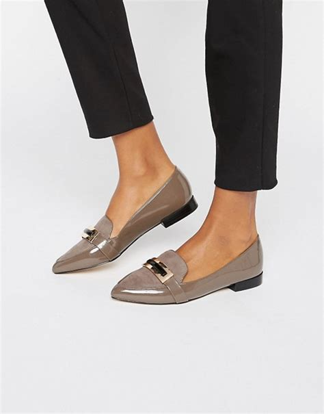carvela flat shoes carvela carvela metal trim slipper flat shoes