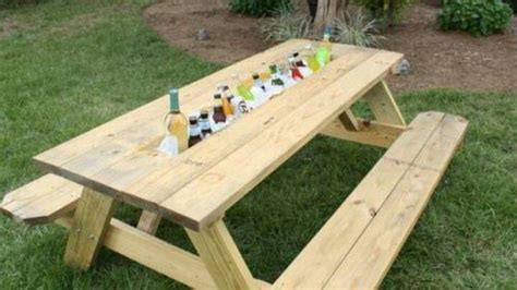 Picnic Table With Cooler picnic table with built in cooler house ideas