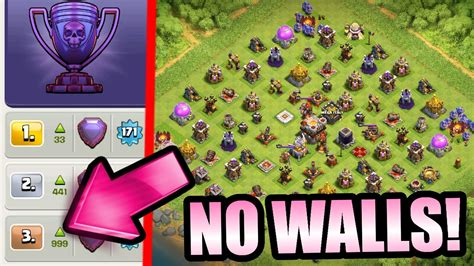 no walls clash of clans most insane coc base ever legend