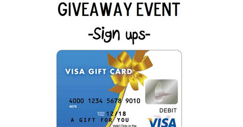 Enter Free Events Monthly Giveaway by Lil And More Free Giveaway Event 25 Visa