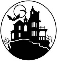 Haunted House Outline by S Pe Haunted House Corn Maze Tag