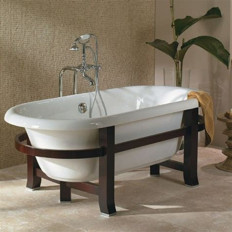 Freestanding Bathtubs Era Double With Modern Wood Frame And Legs In My Dream