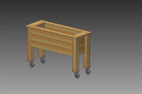 Rolling Planter Boxes rolling planter box autodesk inventor step iges 3d