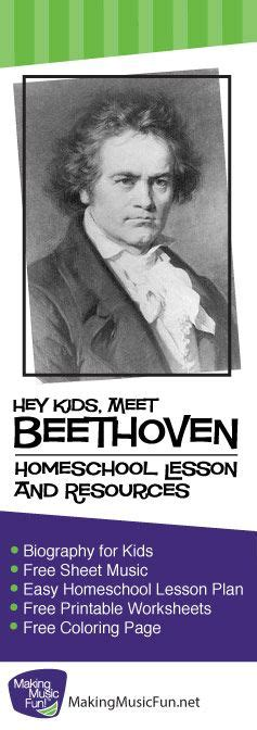 Beethoven Biography For Elementary | 70 best beethoven for kids famous composer biography