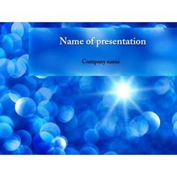 free blue snowflakes powerpoint template amp background for