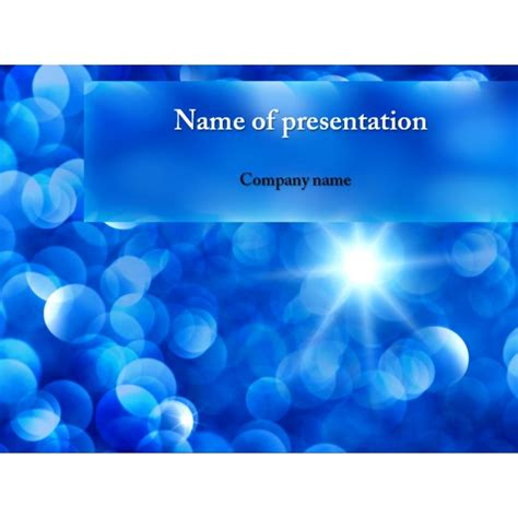 free blue snowflakes powerpoint template background for