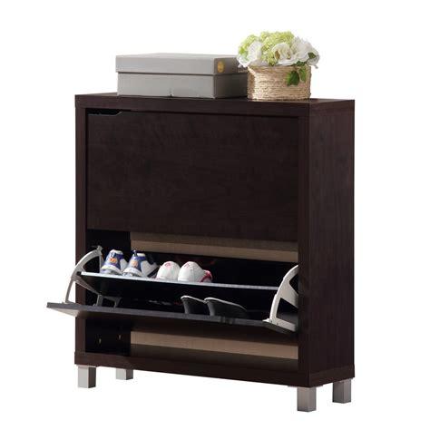baxton studio simms brown modern shoe cabinet