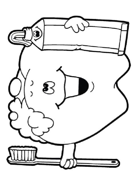 teeth coloring pages preschool print coloring image dental a4 and dental health