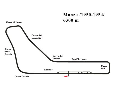 Cl Race Way E 51 Da G 42 monza oval and combined circuit