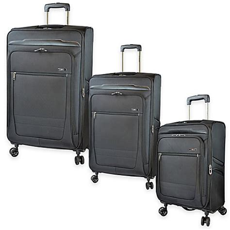 bed bath and beyond luggage travelers club 174 voyager luggage collection in black bed