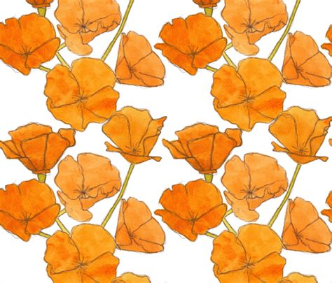pattern for fabric poppy poppy pattern studiodena spoonflower