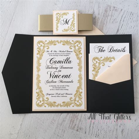 Camilla   Vintage Wedding Invitation Suite   All That