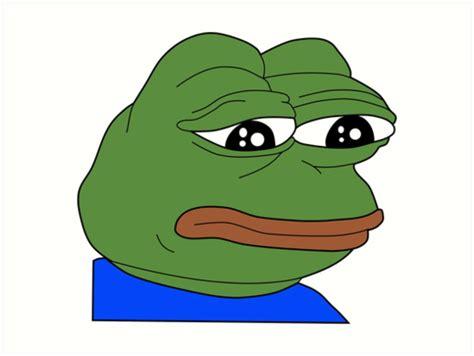 sad frog meme l 225 minas 237 sticas 171 sad pepe frog meme print 187 de