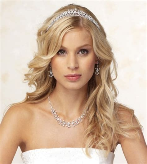 wedding hairstyles half up half down with tiara and veil half up half down wedding hairstyles with tiara wedding