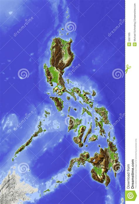 House Design Blogs Philippines by Philippines Relief Map Royalty Free Stock Photo Image