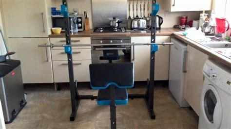 used weight bench and weights weight bench squat rack and weights used approx 5 times for sale in glasnevin dublin