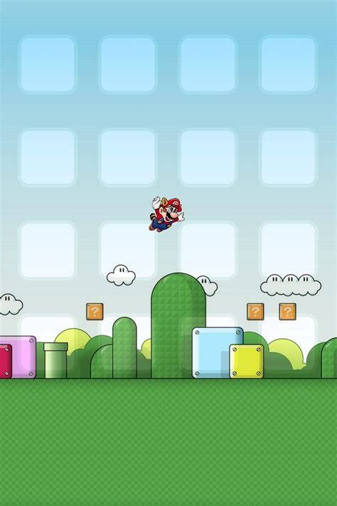 Wallpaper For Iphone Mario | super mario iphone 4 wallpaper iphone fan site
