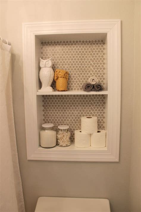best 25 bathroom recessed shelves ideas on