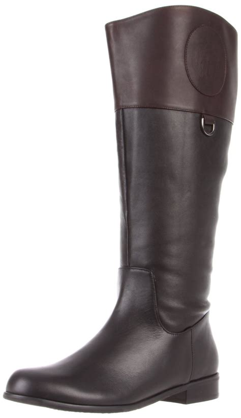 ros hommerson chip boot black brown leather wide calf h