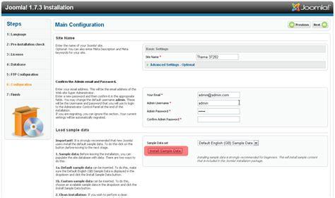 joomla quick tutorial joomla framework quick complete installation template