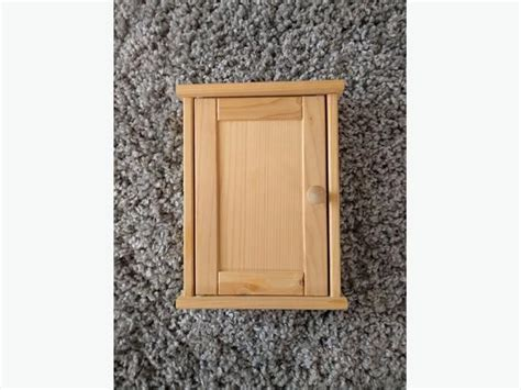 ikea key holder euc ikea wooden key holder box with hooks saanich victoria
