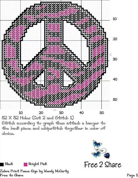 free patterns in plastic canvas to print 21 best all peace sign cross stitch patterns images on