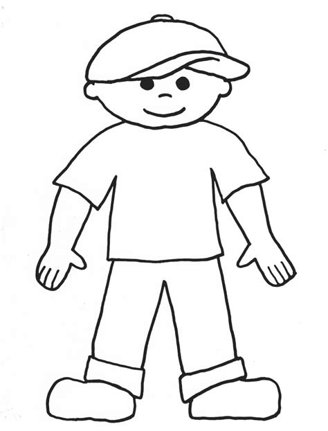 flat stanley template blank gummy coloring page cliparts co