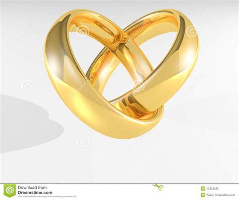 heart gold wedding rings royalty free image