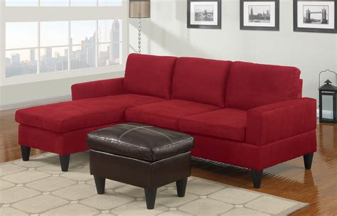small red sectional sofa sausalito red microfiber small sectional sofa set at gowfb