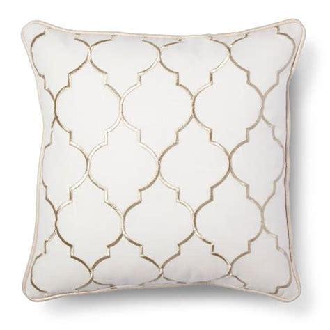 White Sofa Pillows Gold Embroidered Fret Decorative Pillow White Sofa Pillows